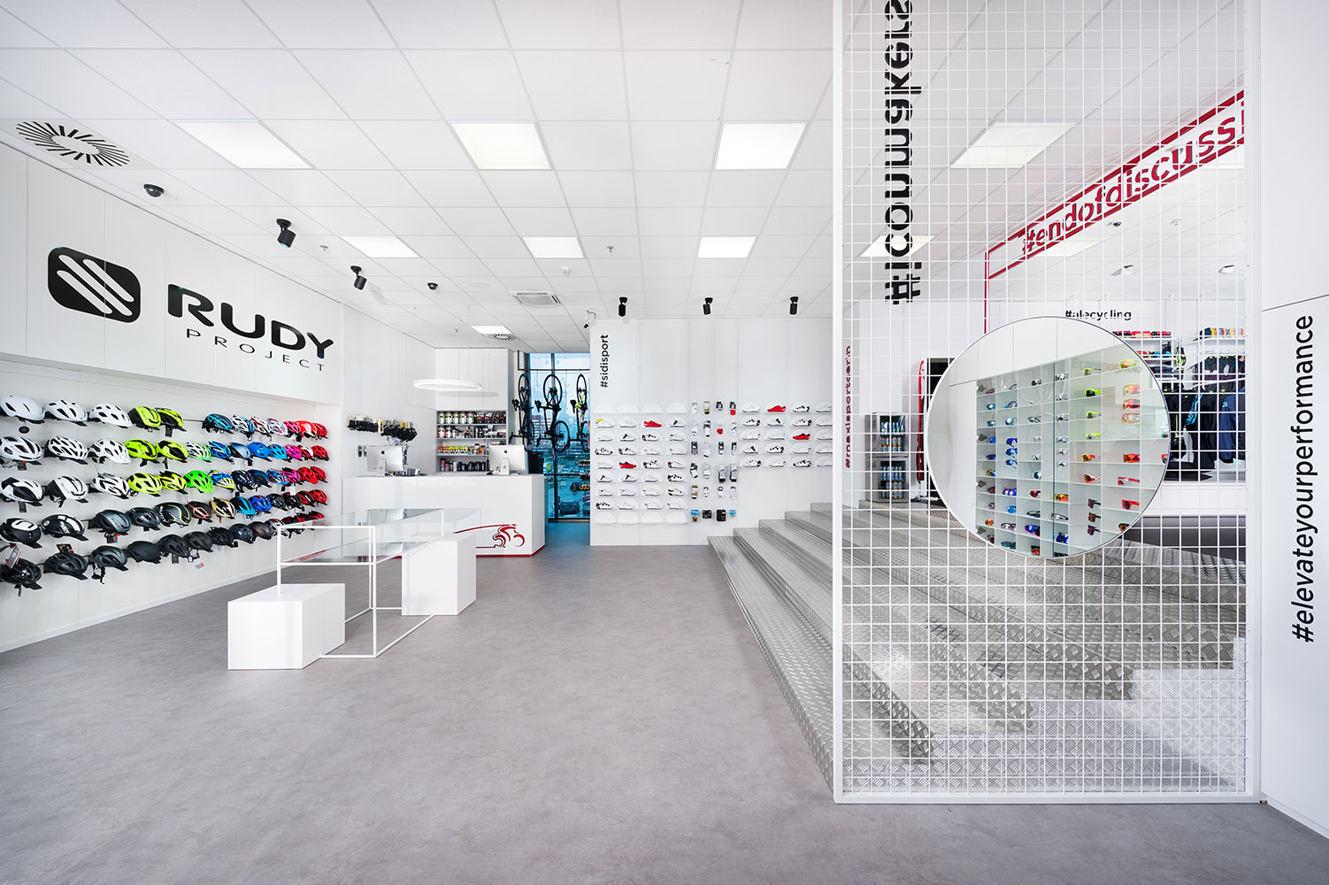 Maxisport Cerin, Retail interior design