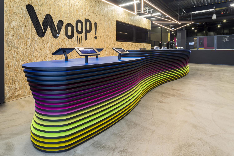 Woop! Trampoline Park interior design