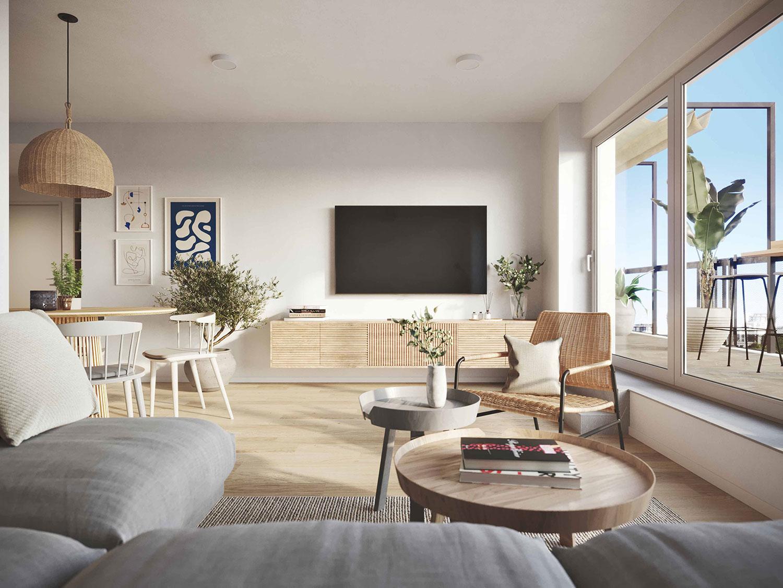 Seaside apartment, Apartment interior design