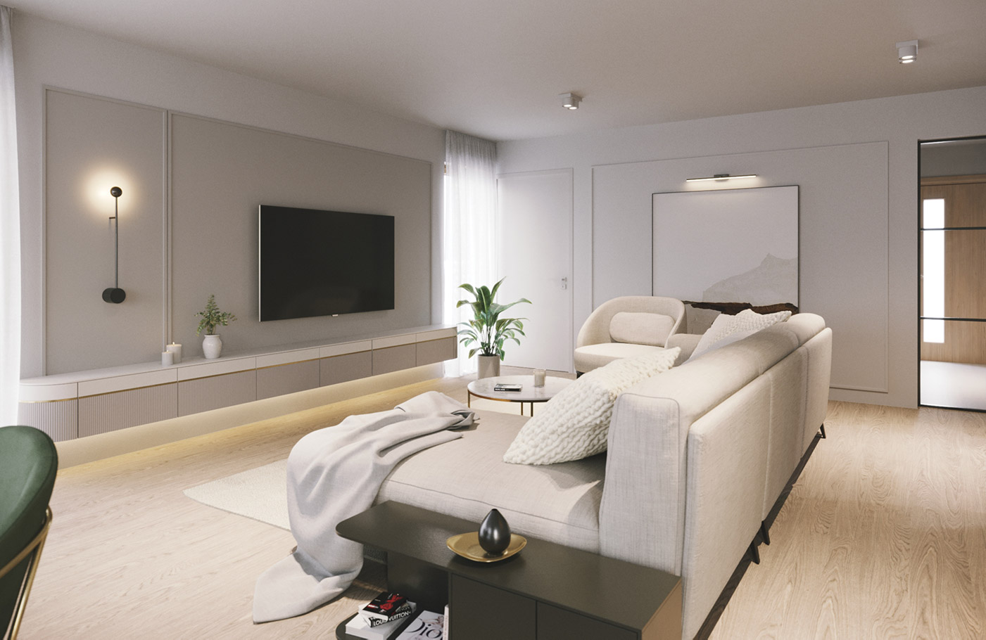 Cloud Haven, House interior design