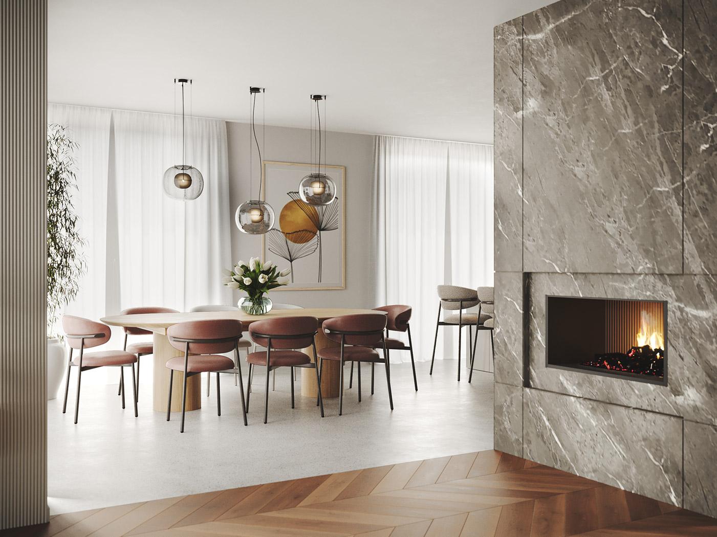 Elegant harmony, House interior design | Dining room