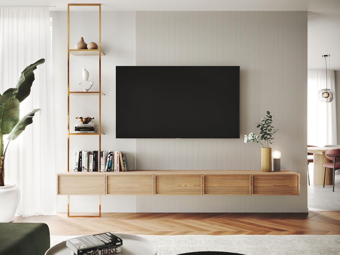 Elegant harmony, House interior design | Living room