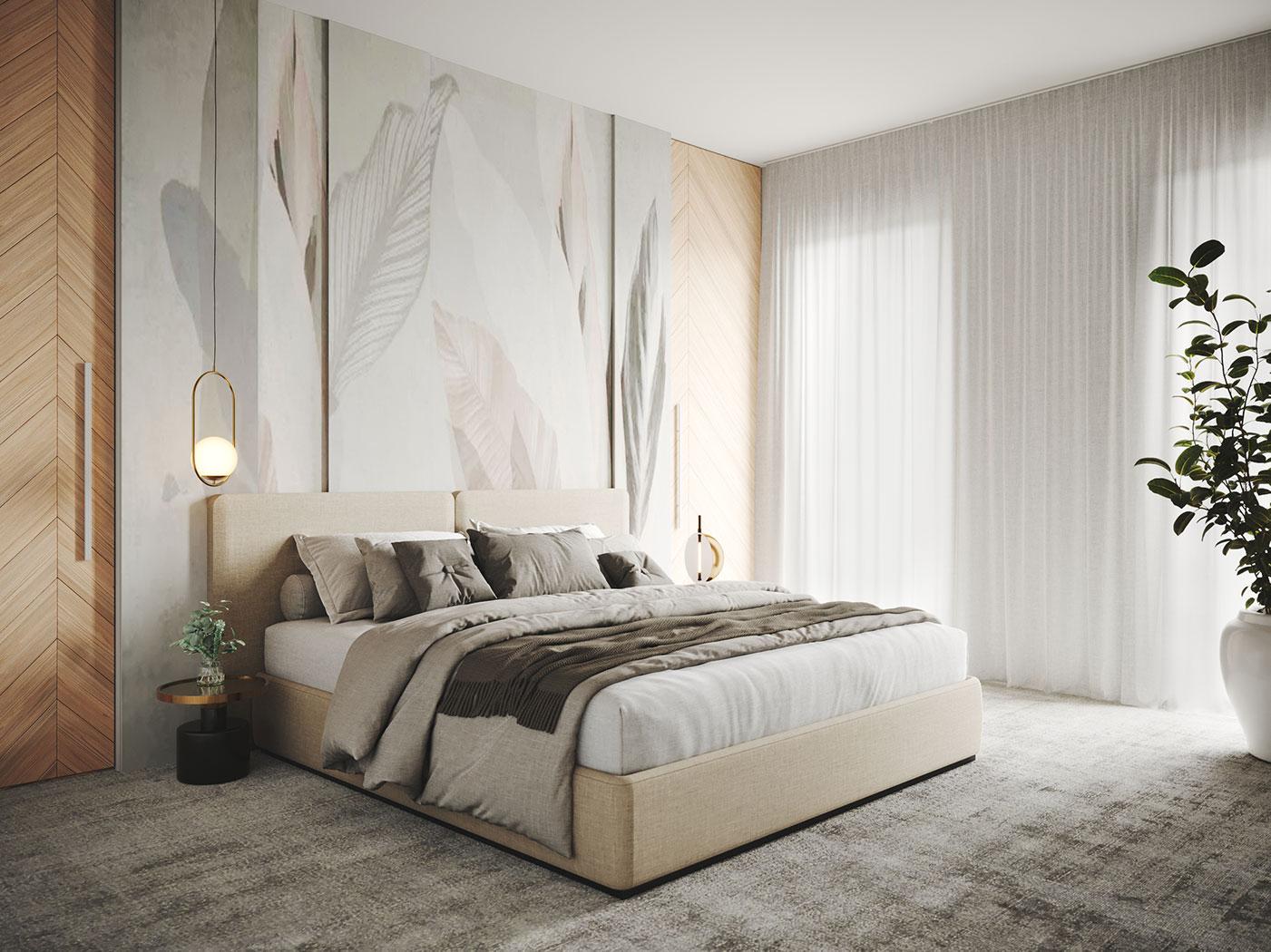 Elegant harmony, House interior design | Bedroom